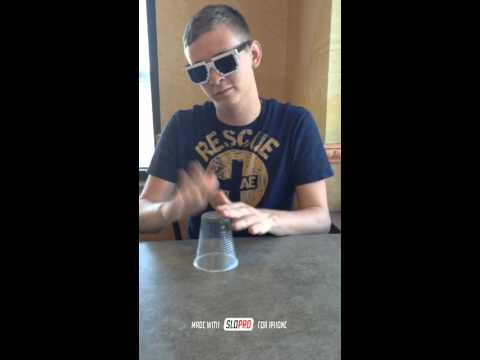 How to do the cups song. Slow Motion.