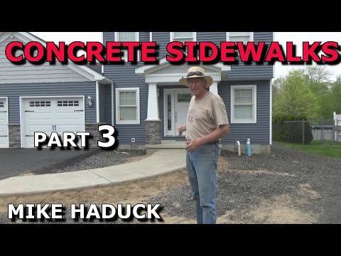 How I float finish concrete (part 3 of 6) Mike Haduck