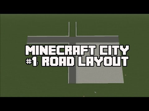 Minecraft PS3 Let's Build A City #1: Road Layout