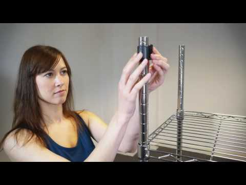 Pristine heavy duty clothes rail with shelves assembly video