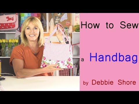 How to sew a simple summer handbag by Debbie Shore