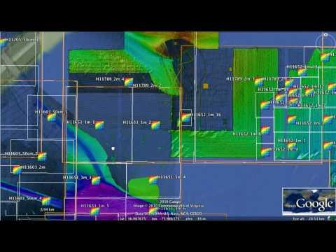 Bathymetry Attributed Grid in Google Earth Ver2