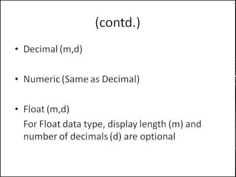 SQL Tutorial - 7: Data-Types in SQL (Part-2)