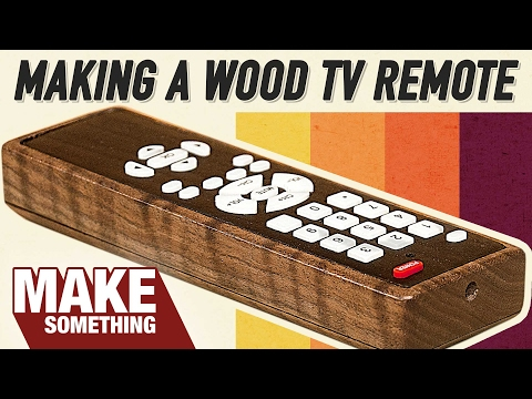Making a Custom Wood TV Remote   Woodworking Project