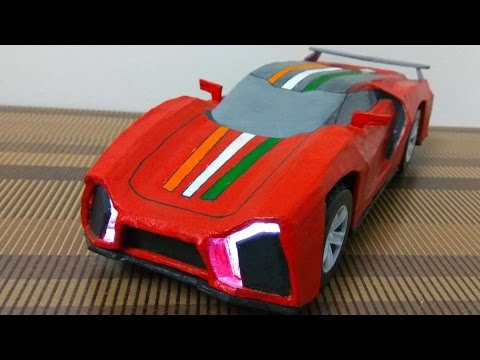 How To Make Electric Toy Car At Home | OWN DESIGN | DIT At Home | Cardboard Car