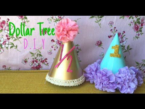 Dollar Tree DIY: Baby Birthday Hats