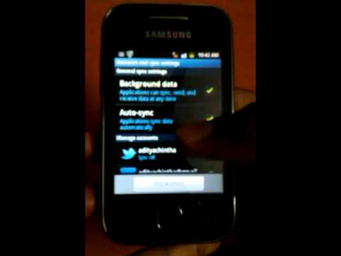 how to stop auto sync for app in samsung galaxy y