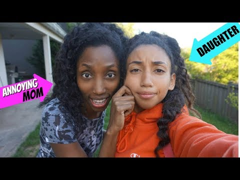 ANNOYING Things ALL Moms Do | Funny mom and Daughter Skit