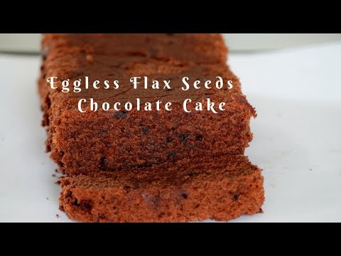 Eggless Chocolate Cake - flax egg chocolate cake - Eggless Flaxseed Chocolate Cake
