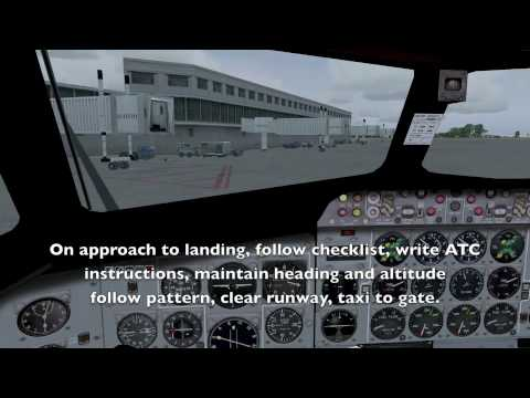 Flight simulator FSX, part 1  -  learn to fly, great tool