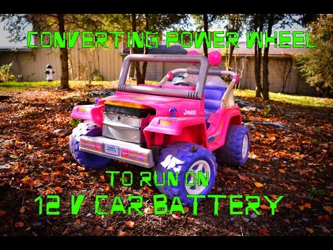 Converting Power Wheel to run on a 12 Volt Car Battery