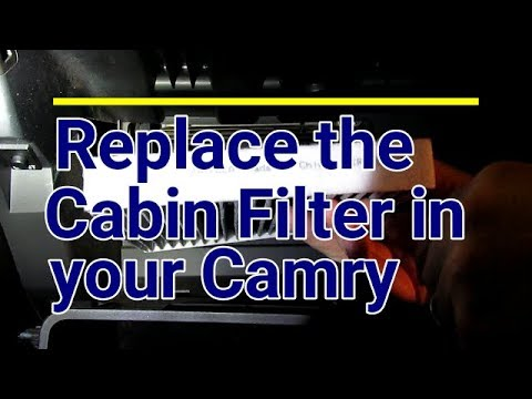 Replace AC Cabin Filter 2007 - 2011 Toyota Camry