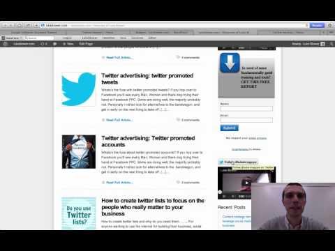 Put a twitter follow button on your blog