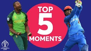 Terrific Tahir! | South Africa vs Afghanistan - Top 5 Moments | ICC Cricket World Cup 2019