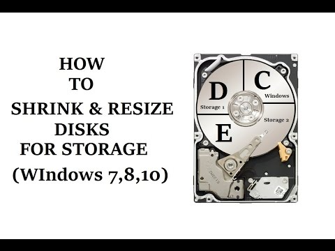 How to Shrink or Extend Partition in Hard Drive for Storage (Windows 7,8,10)