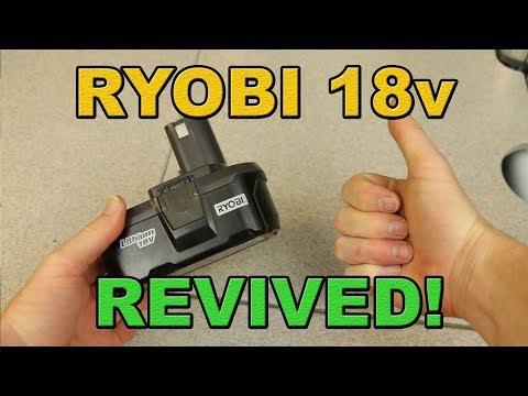 Ryobi Battery REVIVED! P105 18V LITHIUM