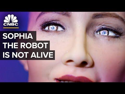 Humanoid Robot Sophia - Almost Human Or PR Stunt | CNBC