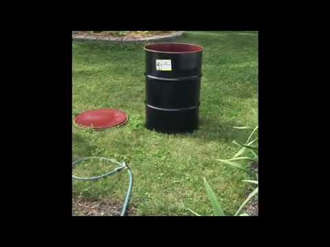 Build a spit out of a 55 gallon drum!
