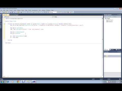 How To Connect SQL Server 2008 To VB.Net 2010(BSU-Malvar; BSIT-222).avi