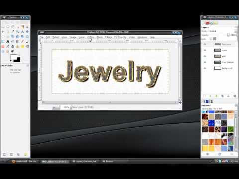 Gimp Tutorial: Jewelry Text Effect