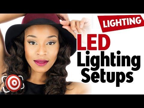 Portrait Lighting Arrangements for the DIY LED Studio Lights - How to light a portrait