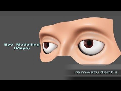 Maya-Intro to Human Eye Modelling