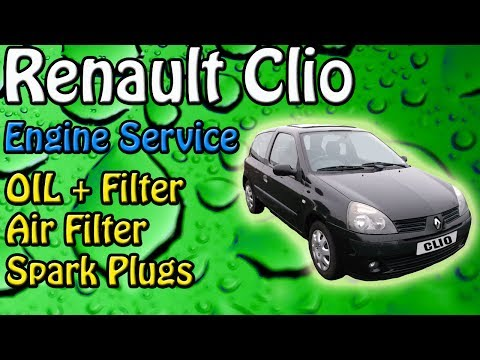 Renault Clio 1.2 Engine Service Oil + Filter Air Filter + General Checks