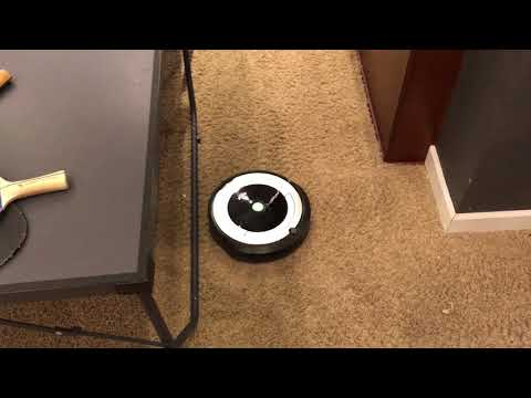 iRobot Roomba 690 cleaning your game room