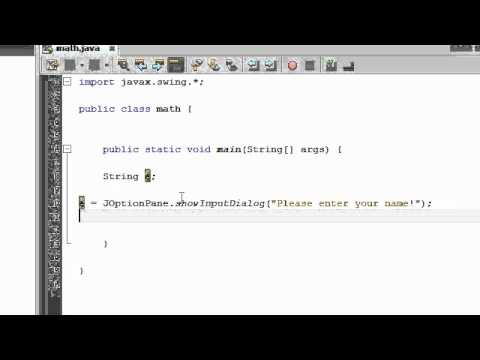 Java Tutorial 5: Taking input from user in Java