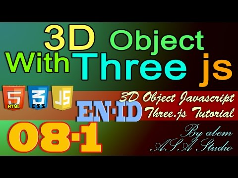3D Object With Three Js, 8, Create Camera Control with Mouse Part 1, Javascript Tutorial