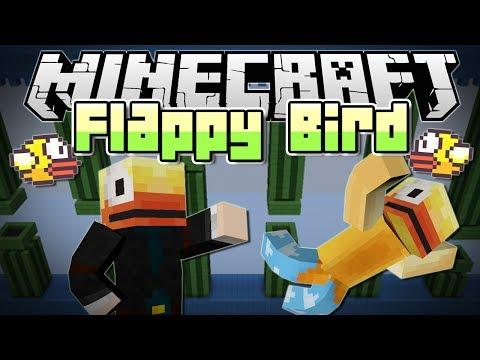 Minecraft   FLAPPY BIRD MINIGAME! (Get Your RAGE On!)   Mini Game