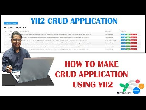 How to Make a CRUD Application Tutorial using PHP Yii2 Framework