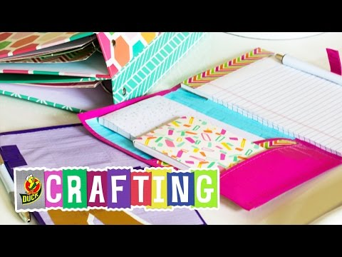 How to Craft a Duck Tape® Back To School Organizer