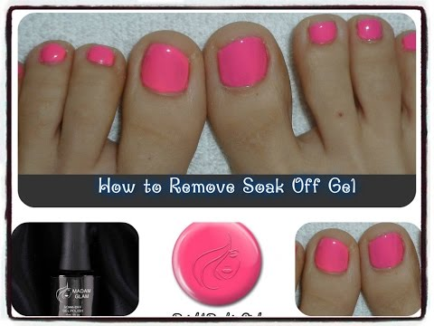 How to Remove Soak Off Gel from Toes