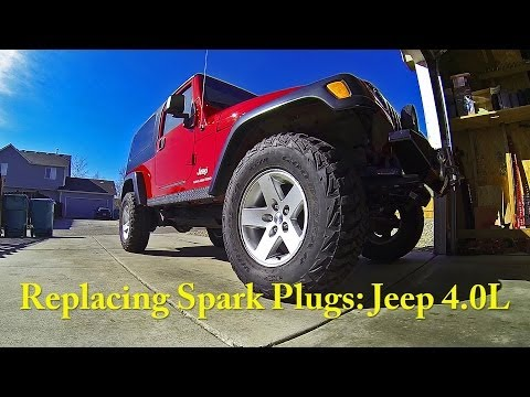 Replacing Spark Plugs: Jeep 4.0L