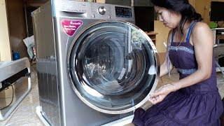 Download Unboxing LG Front load 9 KG 6 Motion DD Washing Machine with Turbowash™, Steam, Wifi Video