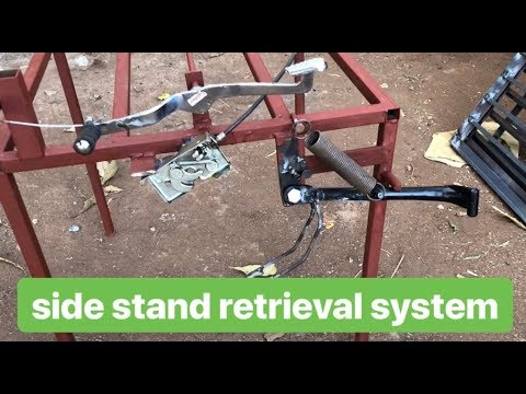 side stand  retrieval system  for Two wheeler Safety