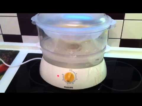 Rice in steamer