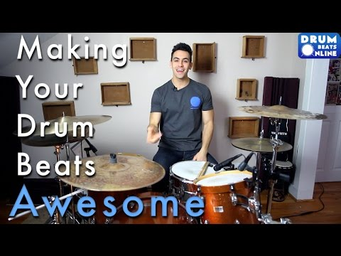 3 Tricks To Make Your Beats Awesome - Easy Beginner Drum Lesson | Drum Beats Online