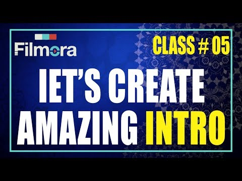 How to make -Intro For youtube video in - Wondershare filmora Tutorial  With AS GRAPHICS