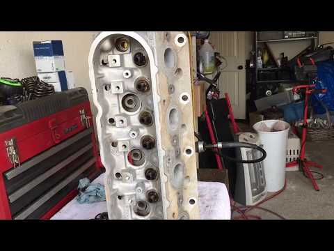 LS 862 heads disassembled for Porting 4.8 Turbo build