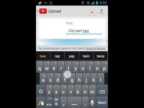 How to upload videos to you tube