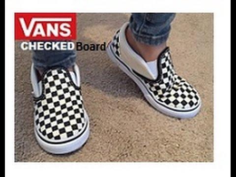 Vans checkedboard Slip on, Justin bieber, kylie, CELEB FAV! QUICK 1 MIN REVIEW! White, Black, Red