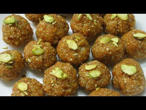 Gond ke Laddu - How to make Healthy Gond Laddu in Hindi - Simple Edible Gum Laddu