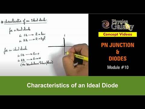 10. Physics | PN Junction & Sem Diodes | Characteristics of an Ideal Diode | by Ashish Arora