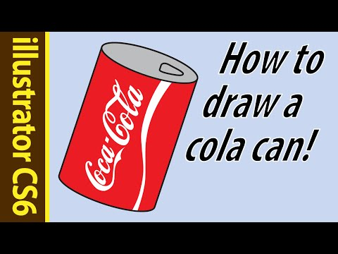 How to make a CocaCola can in Illustrator (tutorial)