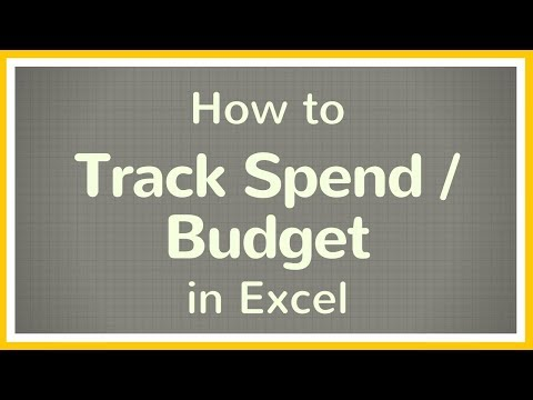 How to Create a Budget in Excel / How to Track your Spend Using Excel - Tutorial 💲