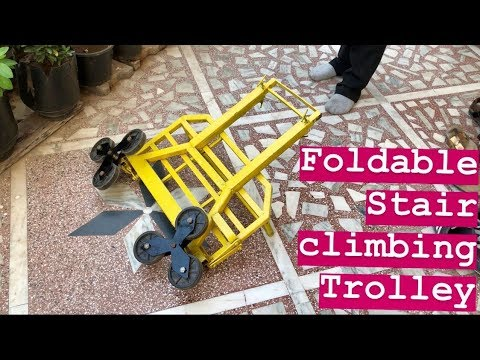 How to make Foldable  Stair Climbing Trolley cart