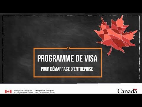 Programme de visa pour démarrage d'entreprise
