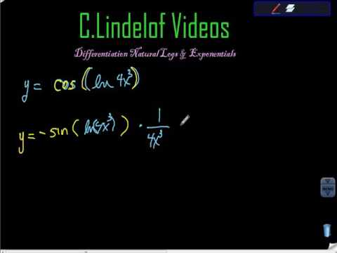Differentiation LN and Exponential Fctns V
